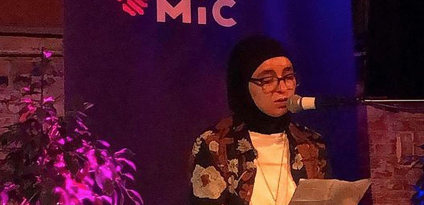 Slam poetry met Sakina