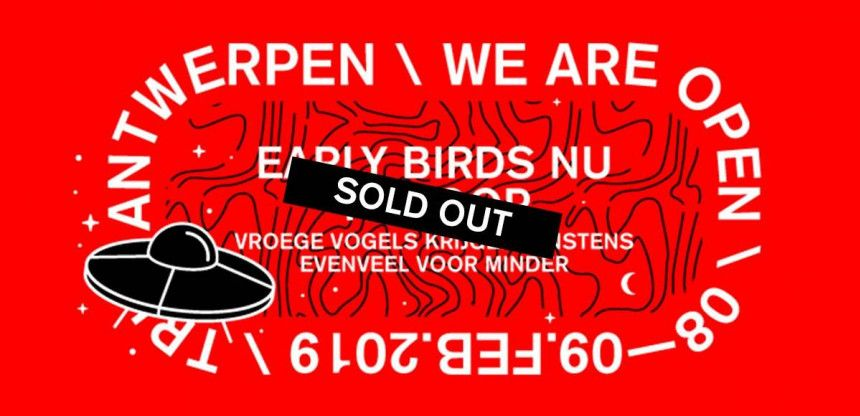 WAO19: Early Birds sold out